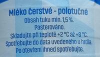 Ranko MLÉKO ČERSTVÉ - Ingrédients - cs