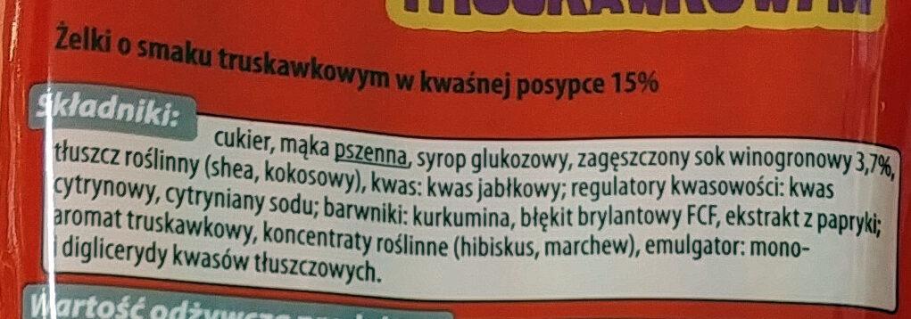 Kwaśne paski tęczowe o smaku kwaśnym. - Składniki - pl