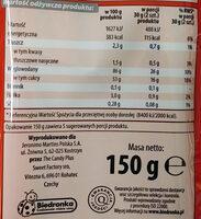 Kwaśne paski tęczowe o smaku kwaśnym. - Wartości odżywcze - pl