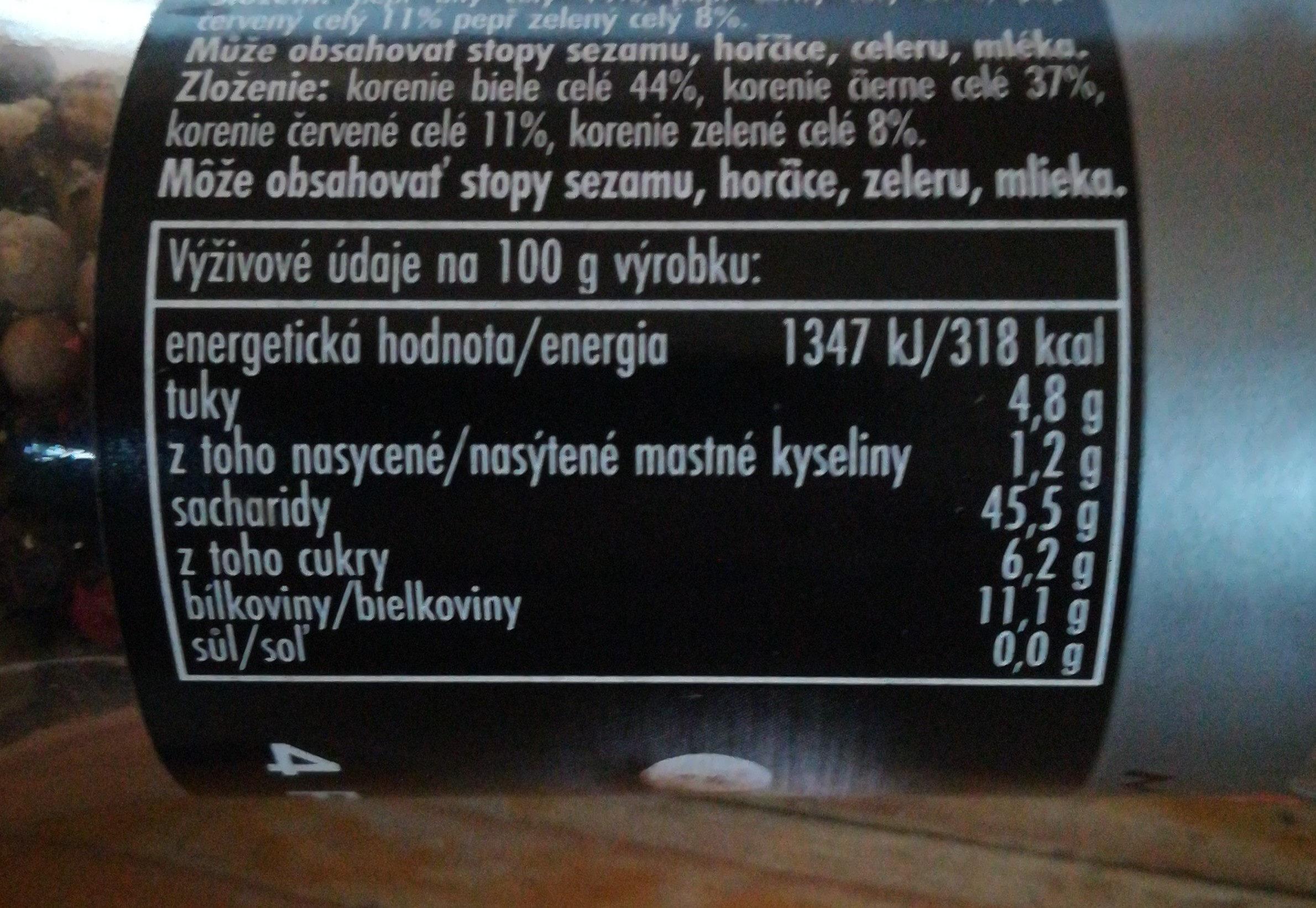 4pepře - Nutrition facts - cs