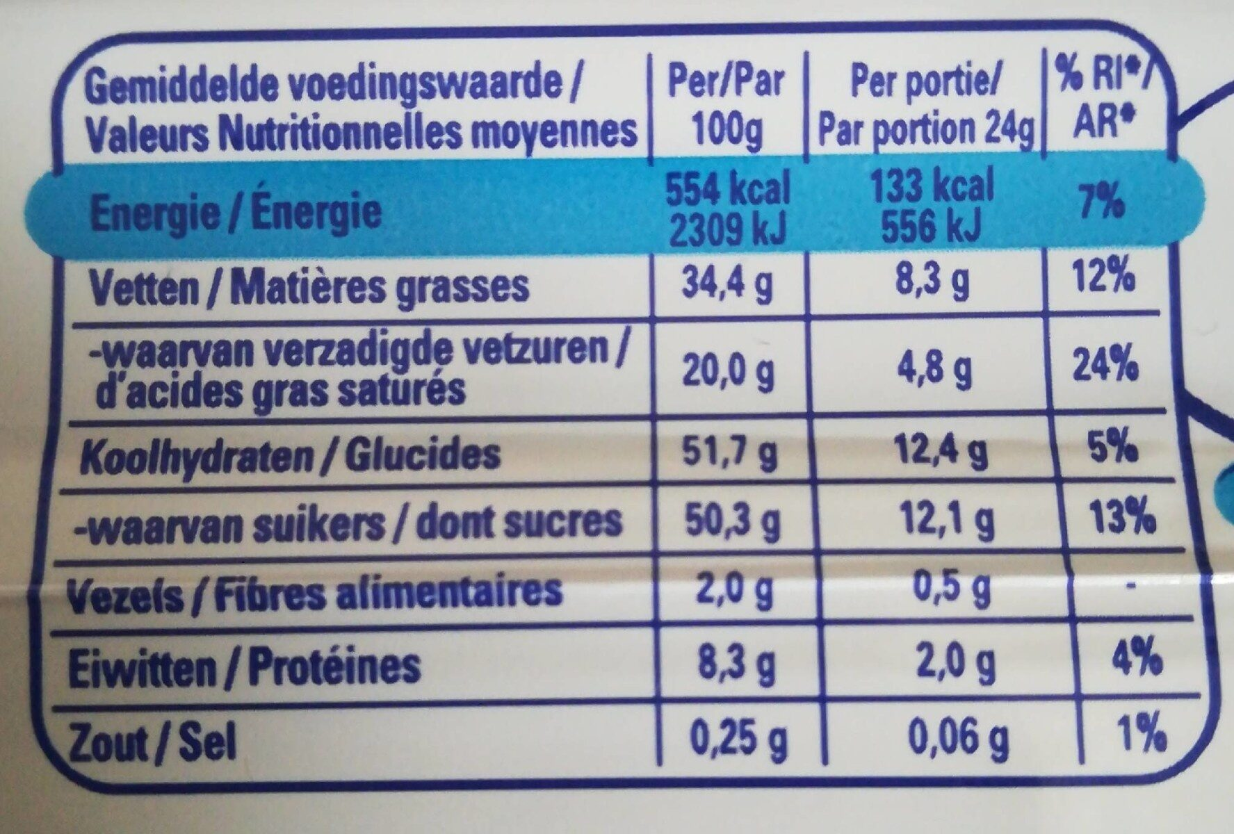 Bros - Informations nutritionnelles - fr