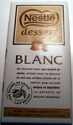 Dessert Blanc - Produit - fr