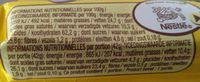 Nuts - Informations nutritionnelles