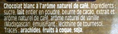 Chocolat Nestlé Dessert au café - Ingrédients - fr