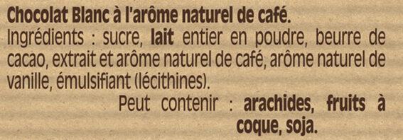 NESTLE DESSERT Chocolat blanc Café - Ingredients - fr