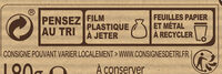 NESTLE DESSERT Chocolat blanc Café - Recycling instructions and/or packaging information - fr