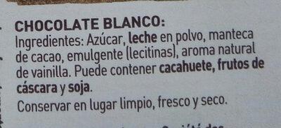 Chocolate Blanco - Ingrédients - es