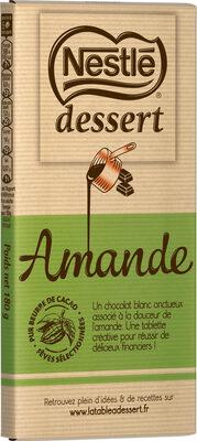 NESTLE DESSERT Chocolat Blanc Amande - Produit - fr