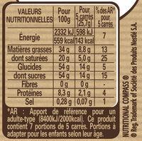 NESTLE DESSERT Chocolat Blanc Amande - Informations nutritionnelles - fr
