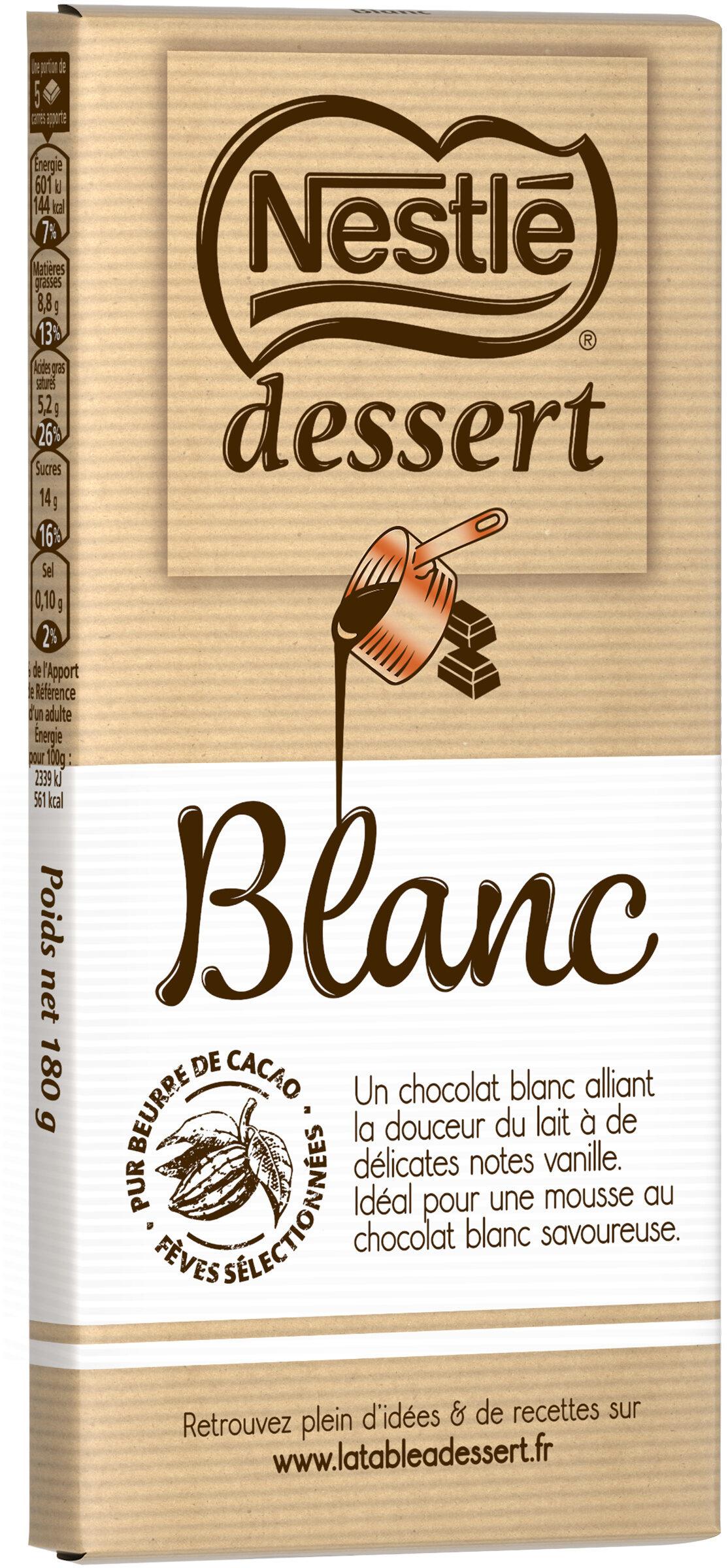 NESTLE DESSERT Chocolat Blanc - نتاج - fr