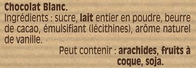 NESTLE DESSERT Chocolat Blanc - المكونات - fr