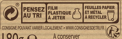 NESTLE DESSERT Chocolat Blanc - Recycling instructions and/or packaging information - fr