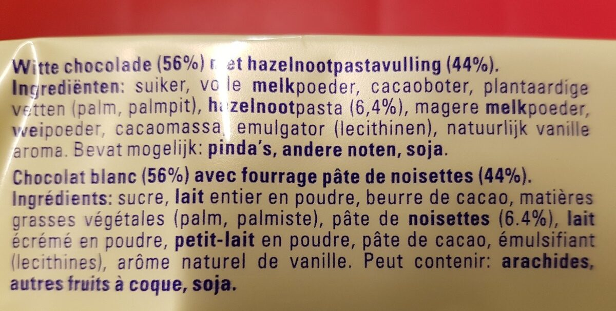 Praliné - Ingrediënten