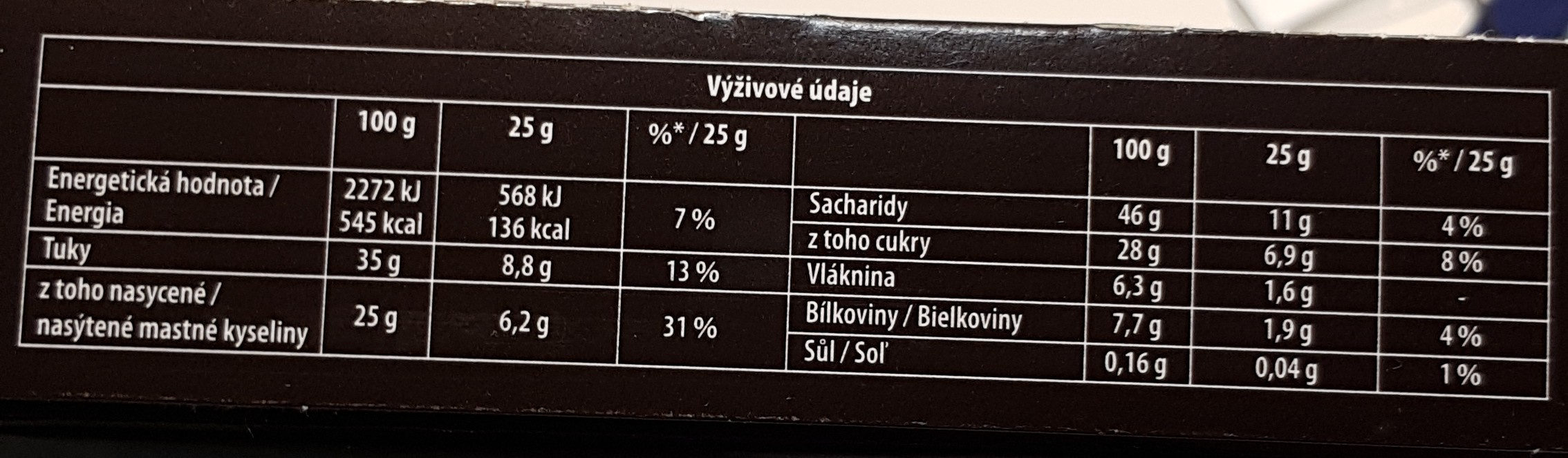 Oblaten Grand Choco - Nutrition facts - en