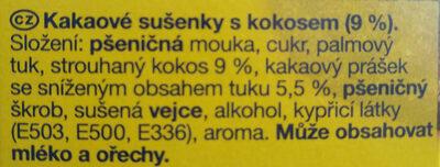 Zlaté Kola - Ingredients - cs
