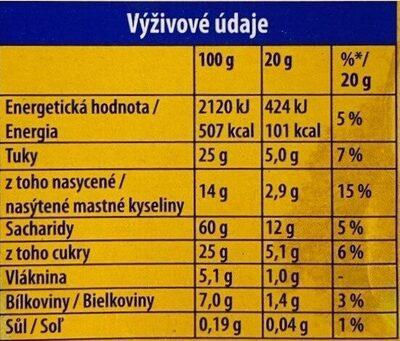 Zlaté Kola - Nutrition facts - cs