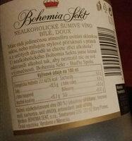 nealkoholické šumové víno - Složení - cs