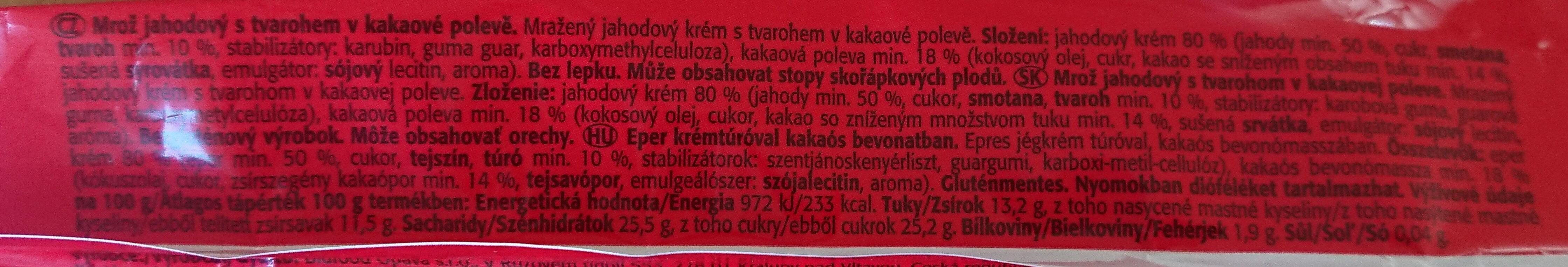 Mrož jahodový s tvarohem - Ingrédients - cs