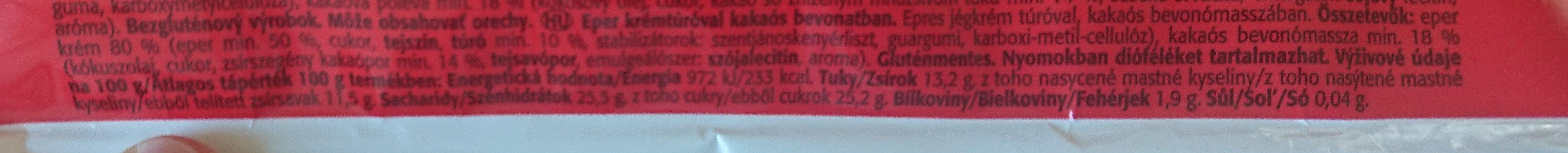 Mrož jahodový s tvarohem - Informations nutritionnelles - cs