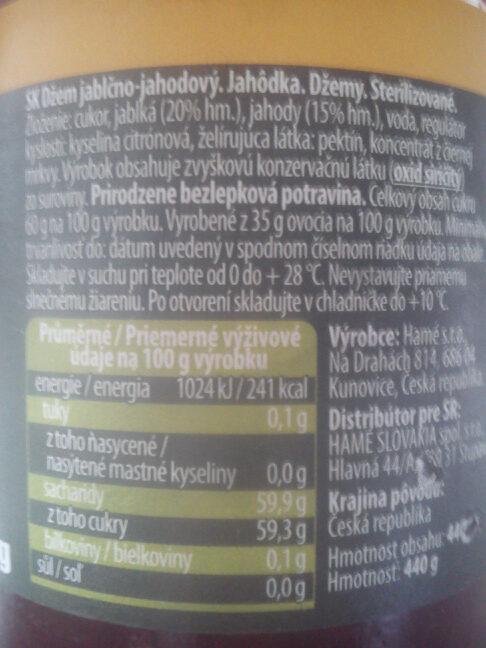 Džem jablečno-jahodový - Ingredients - sk