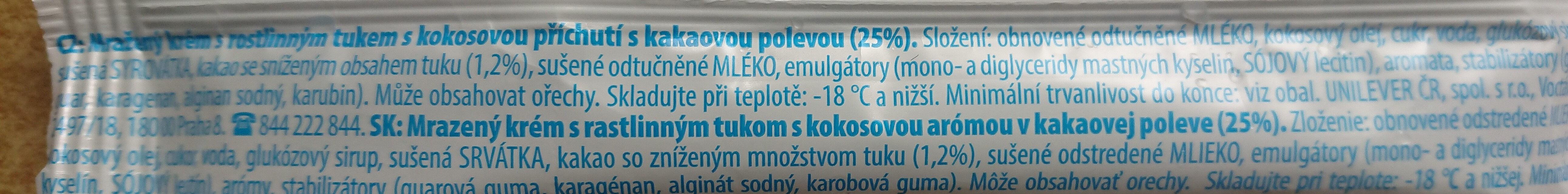 Eskymo - Ingredients - cs