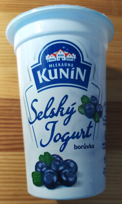 Kunín selský jogurt borůvka - Produit - cs