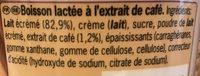 Shakissimo Latte Espresso - Ingrédients - fr