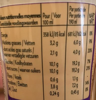 Shakissimo Latte Espresso - Informations nutritionnelles - fr