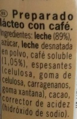 Shakissimo Latte Cappuccino - Ingredientes - es