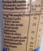 Shakissimo Latte Cappuccino - Información nutricional - es