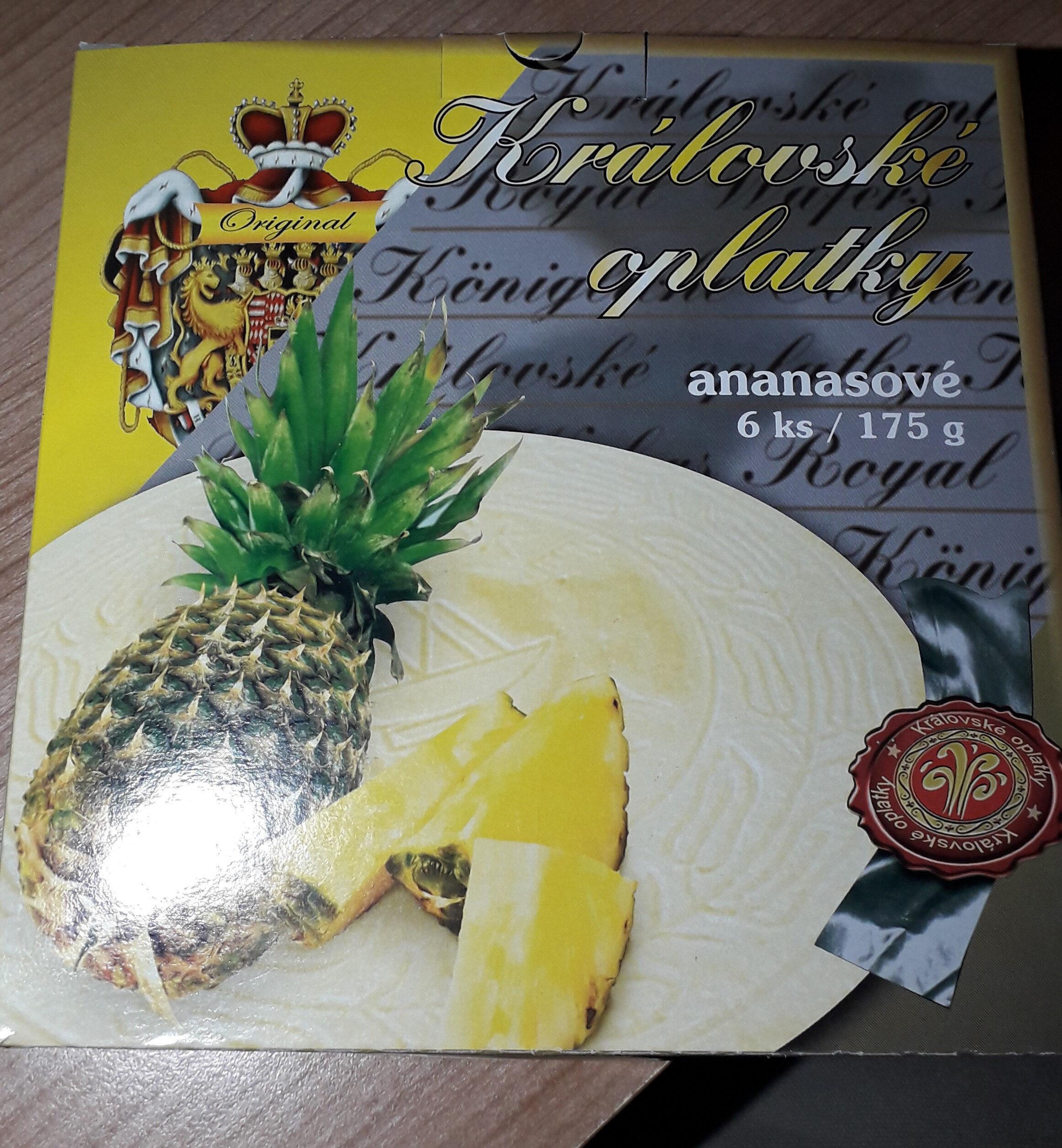 Královské oplatky - ananasové - Produit - cs