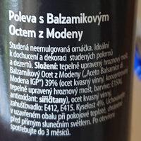 Poleva s Balzamikovým octem z Modeny - Ingredients - cs
