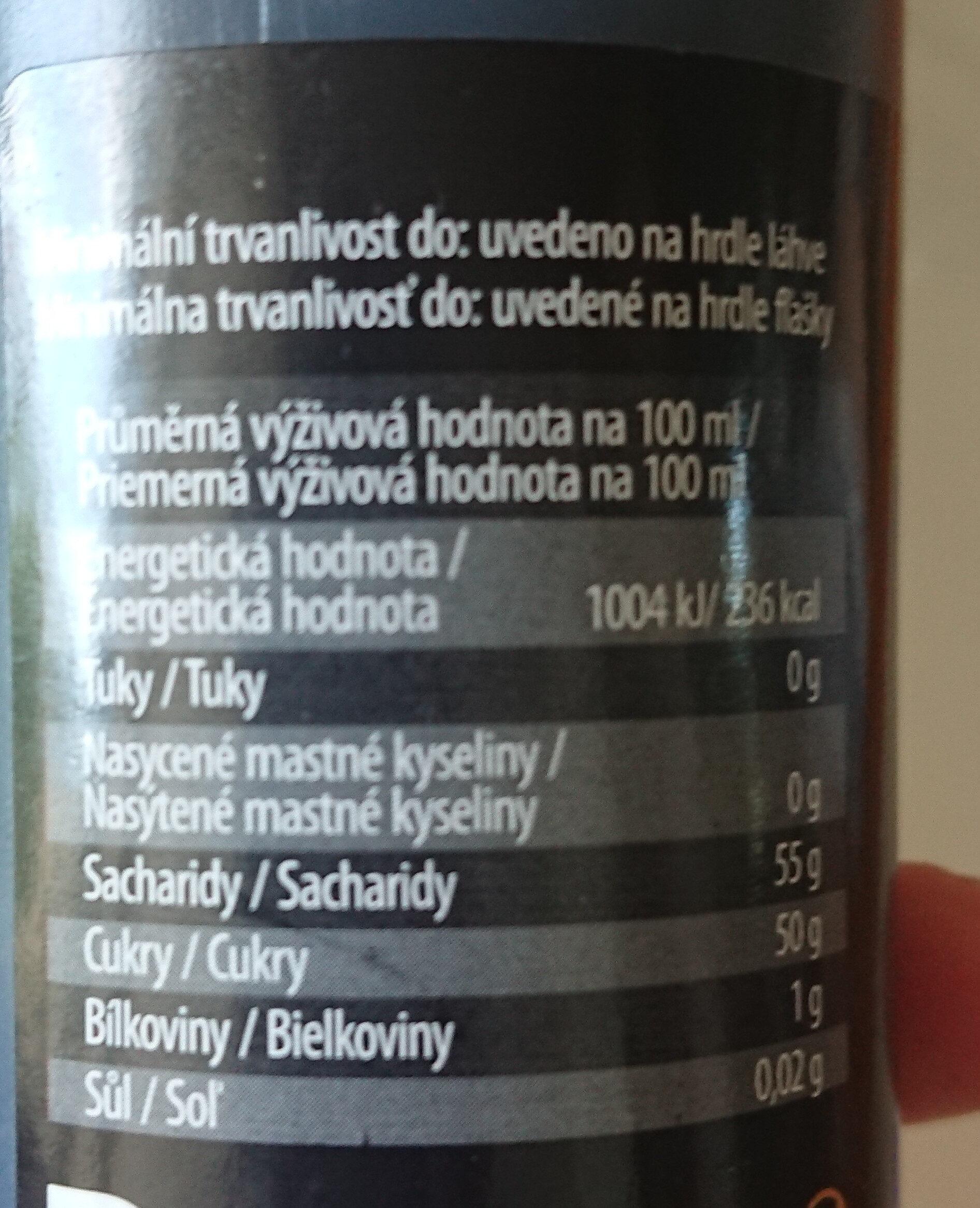 Poleva s Balzamikovým octem z Modeny - Nutrition facts - cs