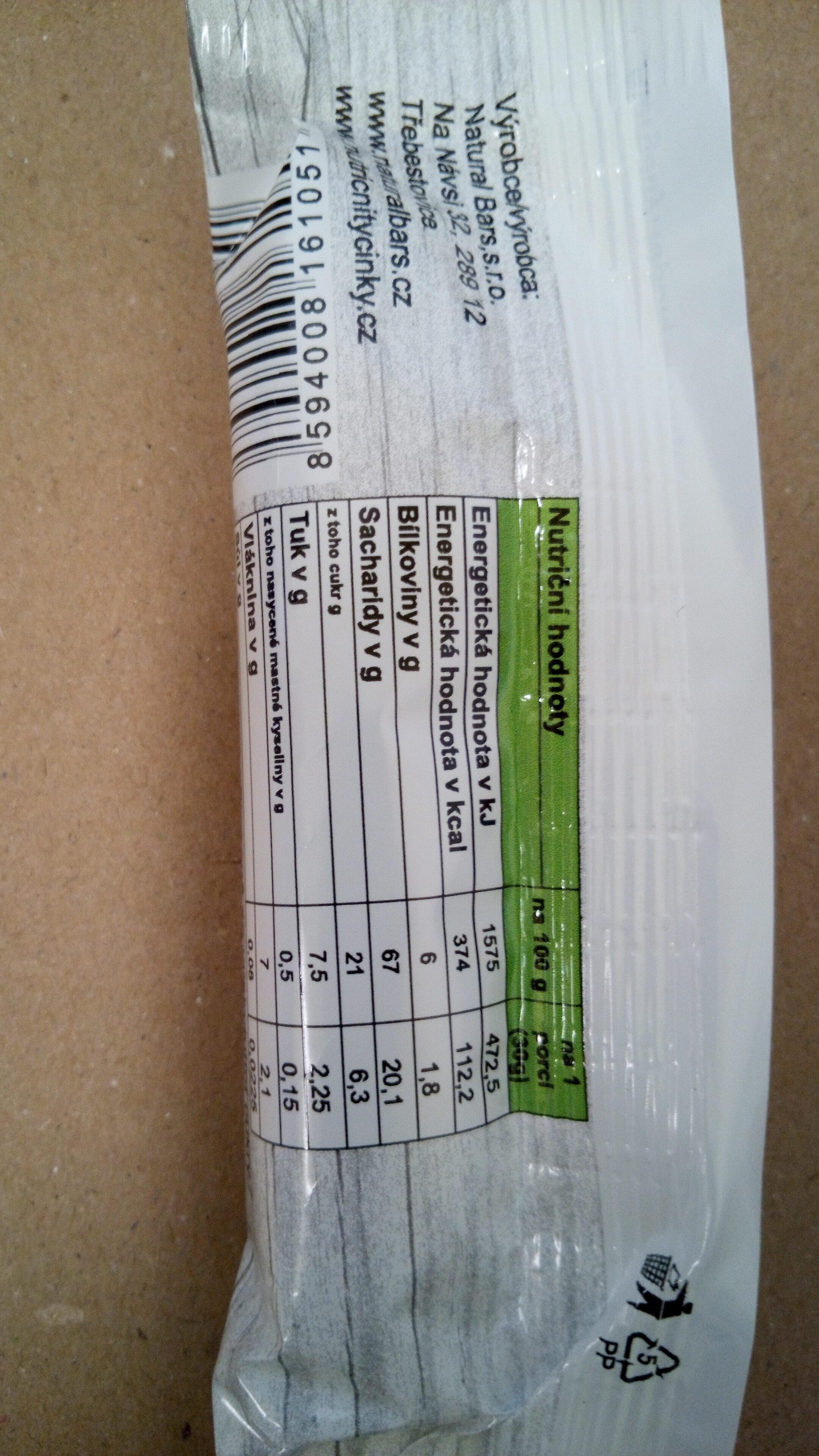 Naturka Staročeská - Informations nutritionnelles - cs