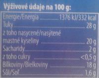 Kral syru - Informations nutritionnelles - en