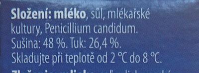 Král sýrů hermelín originál maxi - Ingredients - cs