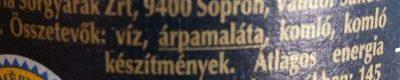Krusovice Cerné - Ingrédients - hu