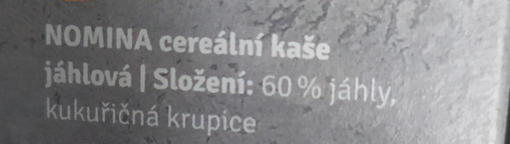 Norminal cereální kaše Nomima jáhhlová - Ingrédients - cs