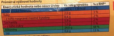 Robi nudličky - Informations nutritionnelles - cs