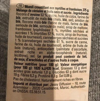 Musli - Ingrediënten