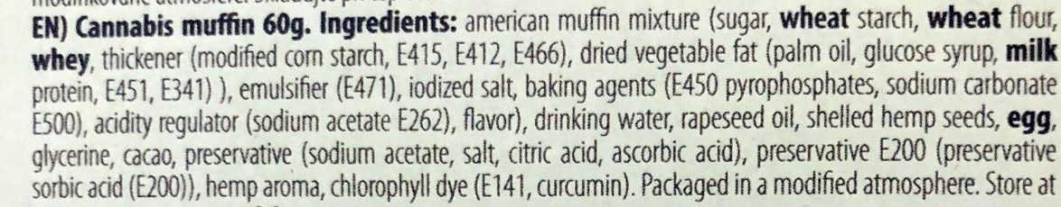 Hash Muffin - Ingredients - fr