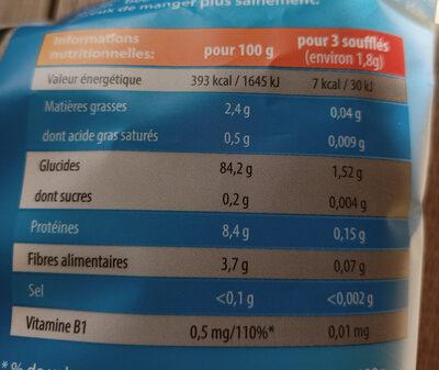 Krupky - Soufflé de Maïs Bébé - Valori nutrizionali - fr