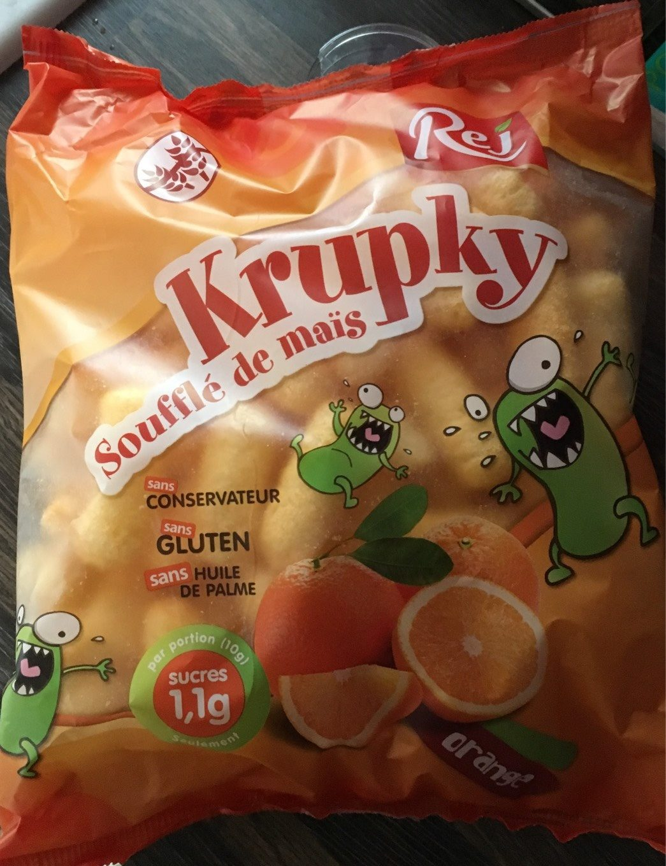 Krupky - Soufflé de maïs orange - Product