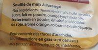 Krupky - Soufflé de maïs orange - Ingrediënten