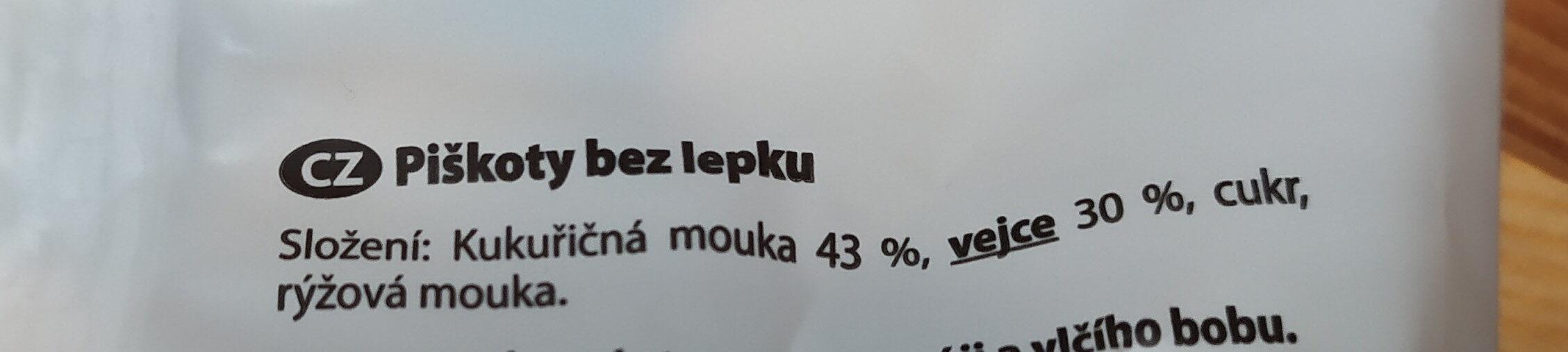 Free village- Piškoty - Ingrédients - cs