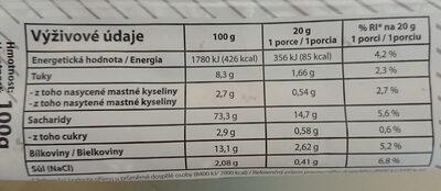 Grissini sezamové - Voedingswaarden