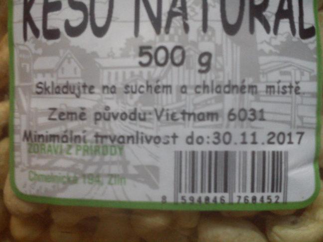 kešu natural - Ingrediënten