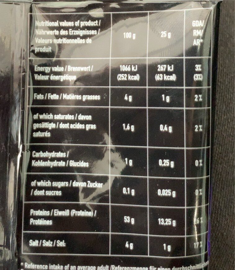 Chicken Jerky - Nutrition facts - fr