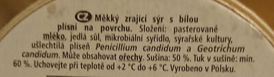 Camembert president krémový - Ingredients - cs