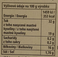 Camembert president krémový - Nutrition facts - cs